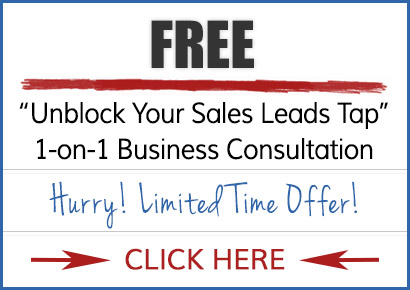 "Free 45-minute ""Unblock Your Sales Leads Tap"" 1- on -1 business consultation"