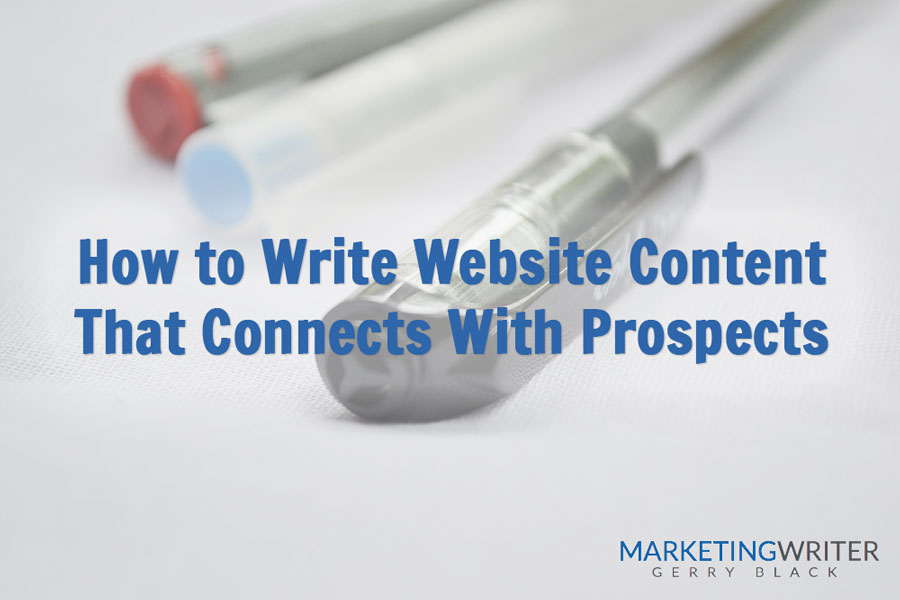 How to Write Website Content That Connects With Prospects