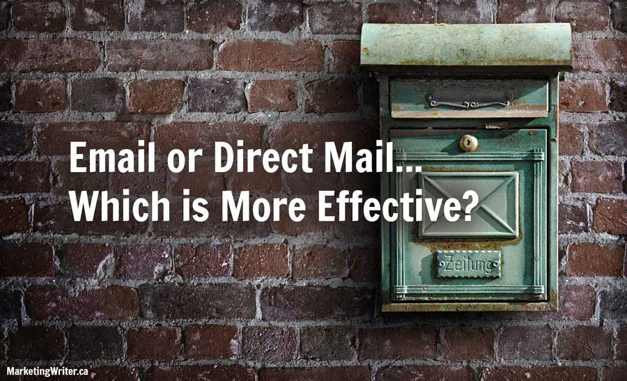 Email or Direct Mail: Which is more effective?